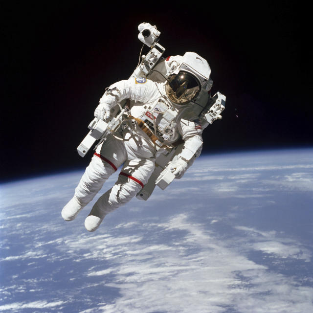 <p>NASA astronaut Bruce McCandless II died on Dec. 21 at age 80. McCandless was the first human to float untethered in space. (Photo: NASA via AP) </p>