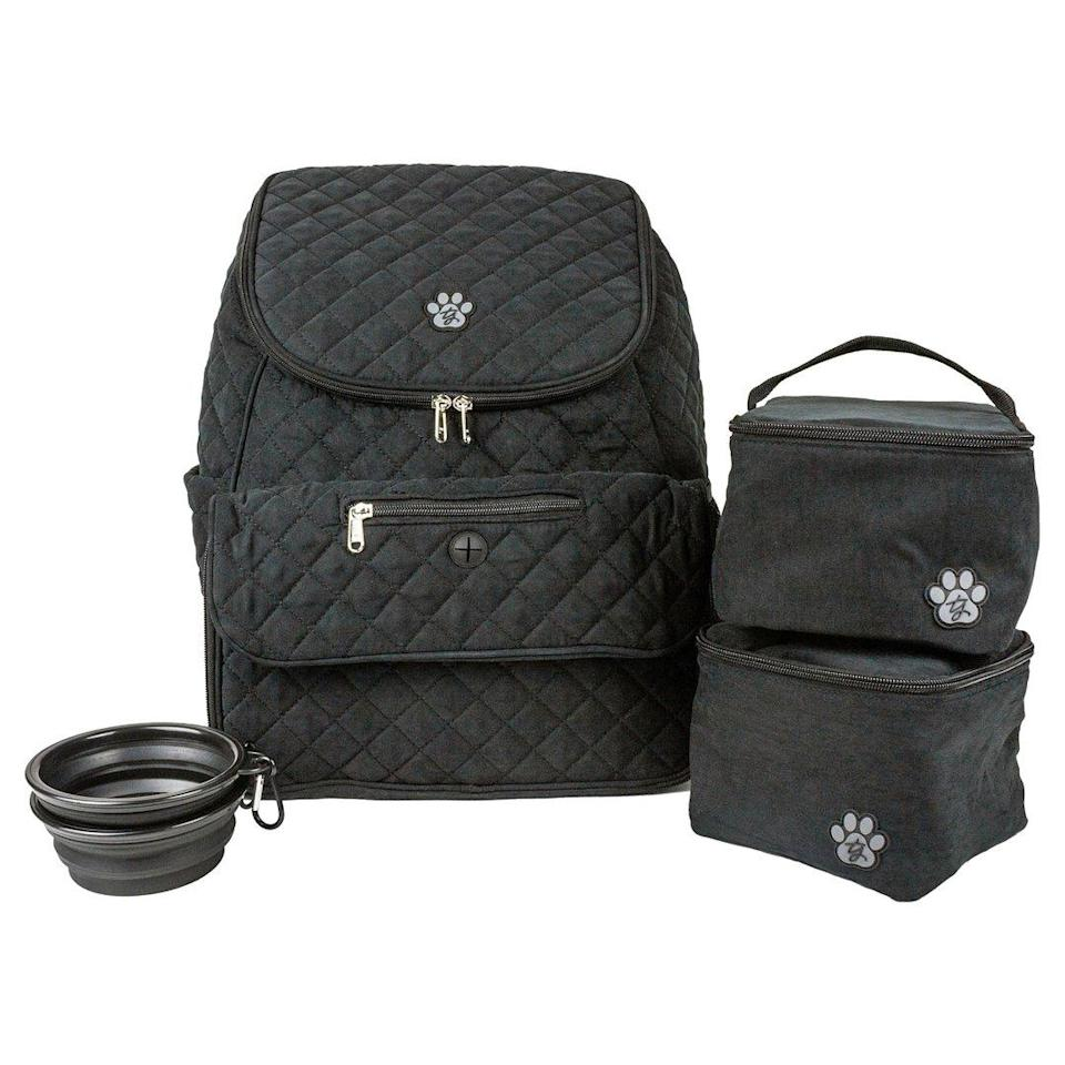 "<p>It's a diaper bag for dog moms! This backpack has all the tools a pet parent needs while still looking stylish. </p> <p><strong>Buy it!</strong> TY Pet Travel Backpack, $49.99; <a href=""https://trishayearwoodpetcollection.com/collections/pet-accessories/products/ty-pet-travel-backpack"" rel=""nofollow noopener"" target=""_blank"" data-ylk=""slk:TrishaYearwoodPetCollection.com"" class=""link rapid-noclick-resp"">TrishaYearwoodPetCollection.com</a></p>"