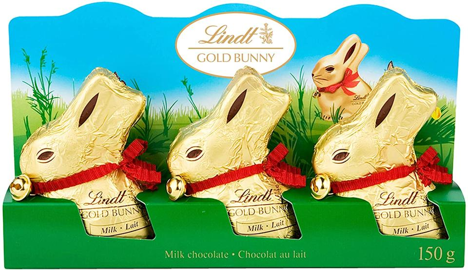 Lindt Easter Chocolate Gold Bunny Gift Pack. Image via Amazon.