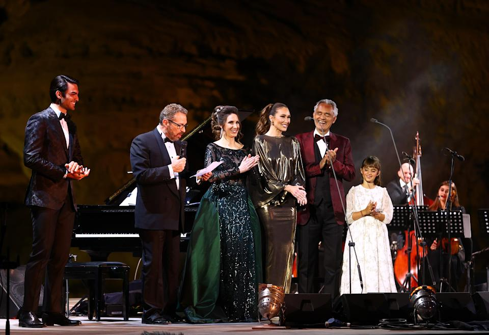 Bocelli was joined by musicians from the Arabian Philharmonic and special guestsGetty Images for The Royal Commission for AlUla