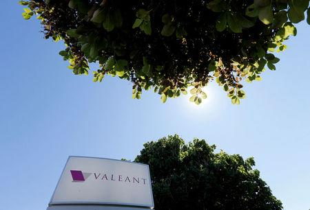 FILE PHOTO -  A sign for the headquarters of Valeant Pharmaceuticals International Inc is seen in Laval Quebec