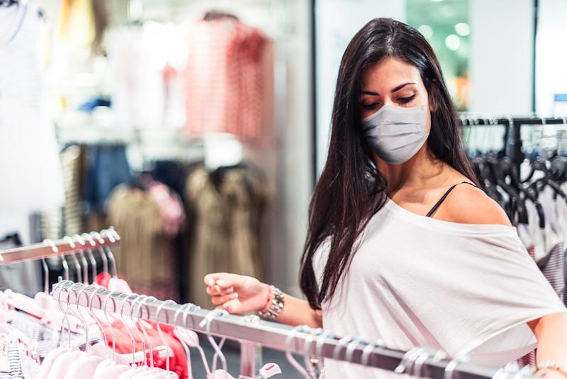 It will be mandatory to wear face masks in shops from Friday. (Getty Images)