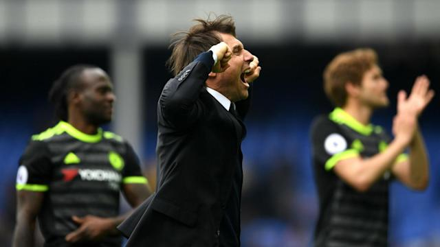 Chelsea moved a step closer to the Premier League title by beating Everton and Antonio Conte championed their attitude.