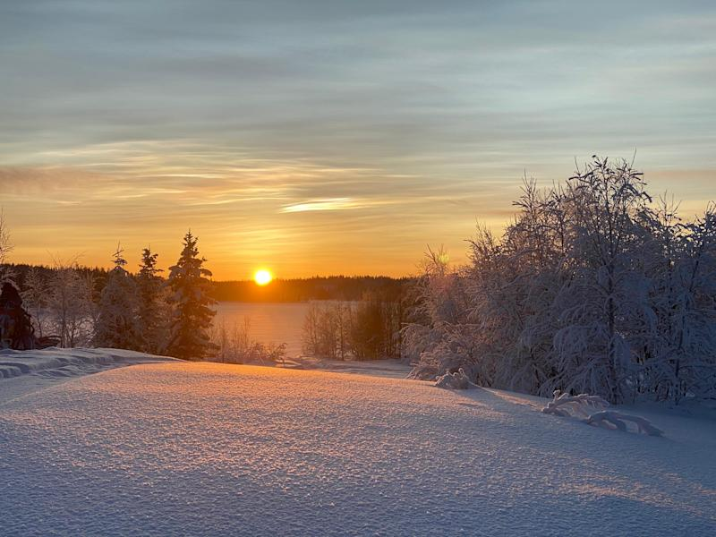 'In the low sun, the forests and frozen lakes were enchanting'
