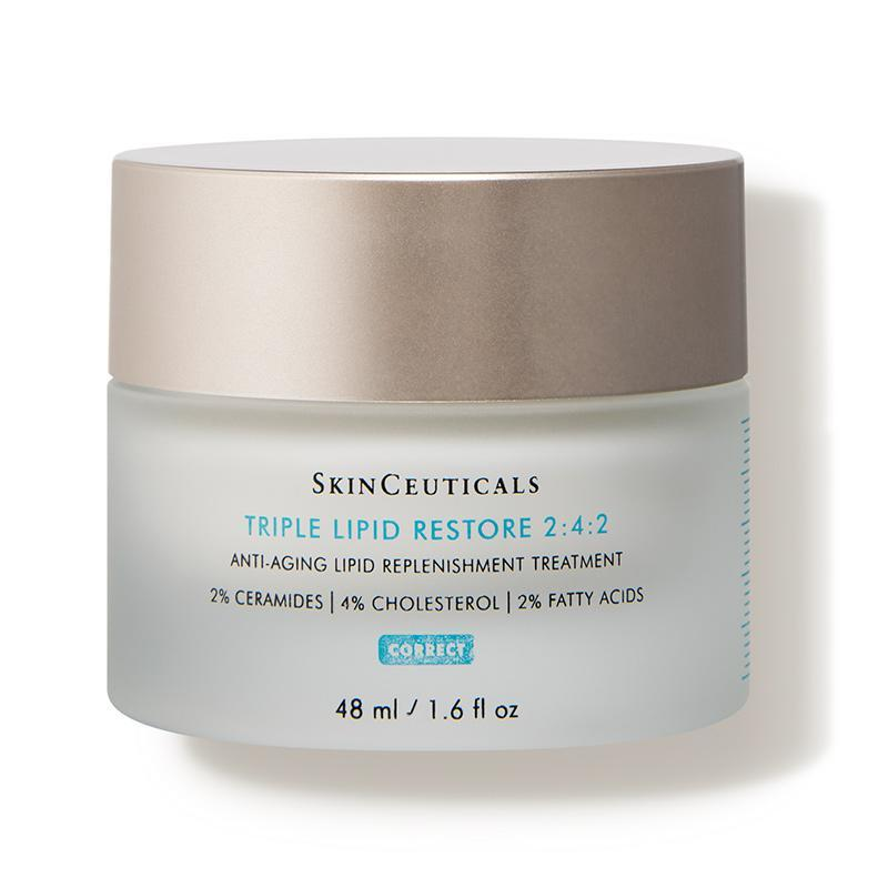 """<p><strong>SkinCeuticals</strong></p><p>dermstore.com</p><p><strong>$128.00</strong></p><p><a href=""""https://go.redirectingat.com?id=74968X1596630&url=https%3A%2F%2Fwww.dermstore.com%2Fproduct_Triple%2BLipid%2BRestore%2B242_65826.htm&sref=https%3A%2F%2Fwww.goodhousekeeping.com%2Fbeauty%2Fanti-aging%2Fg32402904%2Fbest-skinceuticals-products-reviews%2F"""" rel=""""nofollow noopener"""" target=""""_blank"""" data-ylk=""""slk:Shop Now"""" class=""""link rapid-noclick-resp"""">Shop Now</a></p><p>Perfect for winter months or just super <a href=""""https://www.goodhousekeeping.com/beauty/anti-aging/g25577175/best-face-wash-dry-skin/"""" rel=""""nofollow noopener"""" target=""""_blank"""" data-ylk=""""slk:dry skin"""" class=""""link rapid-noclick-resp"""">dry skin</a>, this heavy duty moisturizer <strong>instantly smoothes, plumps and hydrates skin</strong>, thanks to essential lipids like ceramides and fatty acids. I love that it feels thick but absorbs quickly, with no greasy residue left behind.</p>"""