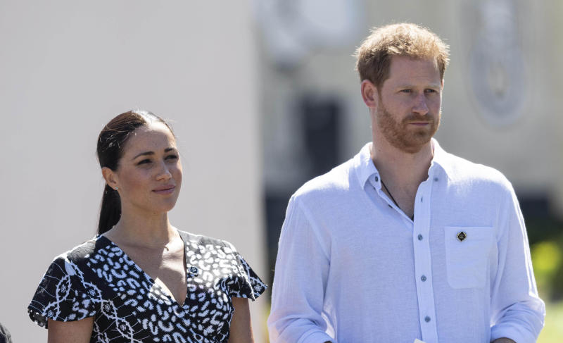 Prince Harry and Duchess Meghan surrendering their royal responsibilities