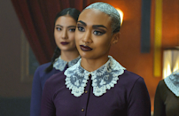 """<p>For another <em>Chilling Adventures of Sabrina</em> costume, you could also go as Prudence Blackwood. As the leader of the Weird Sisters and the Queen Bee of the Academy of Unseen Arts, you'll channel tons of fierce energy.</p><p><a class=""""link rapid-noclick-resp"""" href=""""https://www.amazon.com/Aphratti-Womens-Sleeve-Casual-Medium/dp/B01M0IS66O/?tag=syn-yahoo-20&ascsubtag=%5Bartid%7C2164.g.37050429%5Bsrc%7Cyahoo-us"""" rel=""""nofollow noopener"""" target=""""_blank"""" data-ylk=""""slk:SHOP PURPLE LONG-SLEEVE DRESSES"""">SHOP PURPLE LONG-SLEEVE DRESSES</a></p><p><a class=""""link rapid-noclick-resp"""" href=""""https://www.amazon.com/s?k=lace+collar&tag=syn-yahoo-20&ascsubtag=%5Bartid%7C2164.g.37050429%5Bsrc%7Cyahoo-us"""" rel=""""nofollow noopener"""" target=""""_blank"""" data-ylk=""""slk:SHOP LACE COLLARS"""">SHOP LACE COLLARS</a></p>"""