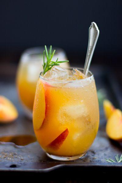 "<p>Maple and sea salt give an earthy, smoky contrast to the sweet peaches.</p><p>Get the recipe from <a href=""http://www.bojongourmet.com/2013/09/rosemary-peach-maple-leaf-cocktail.html"" rel=""nofollow noopener"" target=""_blank"" data-ylk=""slk:The Bojon Gourmet"" class=""link rapid-noclick-resp"">The Bojon Gourmet</a>.</p>"