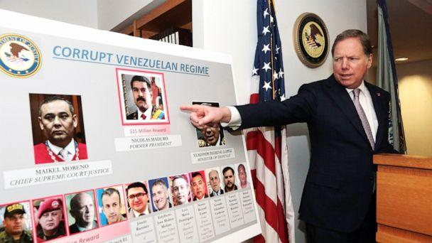 PHOTO: U.S. Attorney Geoffrey Berman of the Southern District of New York announced drug charges against Venezuela's Nicolas Maduro and other Venezuelan government officials, in New York, March 26, 2020. (U.S. Attorney's Office)