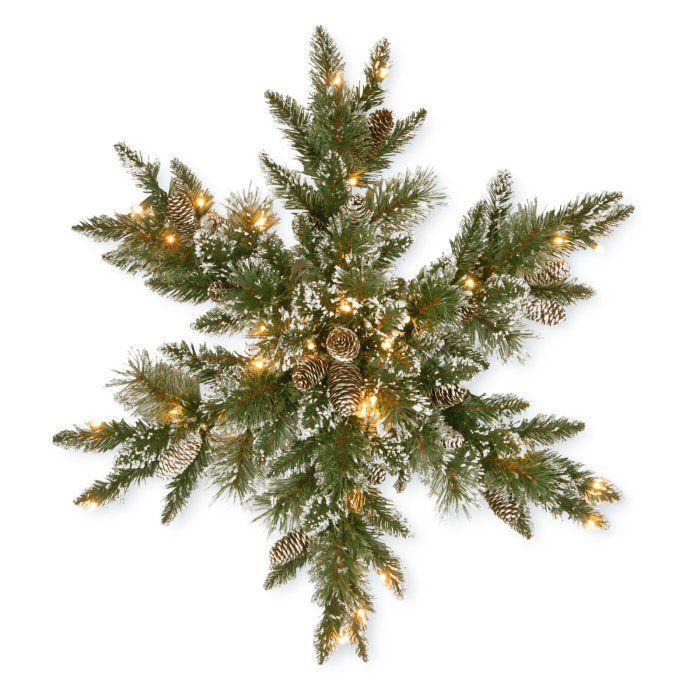 "<p><strong>National Tree Company</strong></p><p>hayneedle.com</p><p><strong>$22.77</strong></p><p><a href=""https://www.hayneedle.com/product/national-tree-company-glittery-bristle-pine-snowflake-with-warm-white-battery-operated-leds-and-timer.cfm"" rel=""nofollow noopener"" target=""_blank"" data-ylk=""slk:Shop Now"" class=""link rapid-noclick-resp"">Shop Now</a></p><p>Ditch the circular wreath for a snowflake-shaped door decoration.</p>"