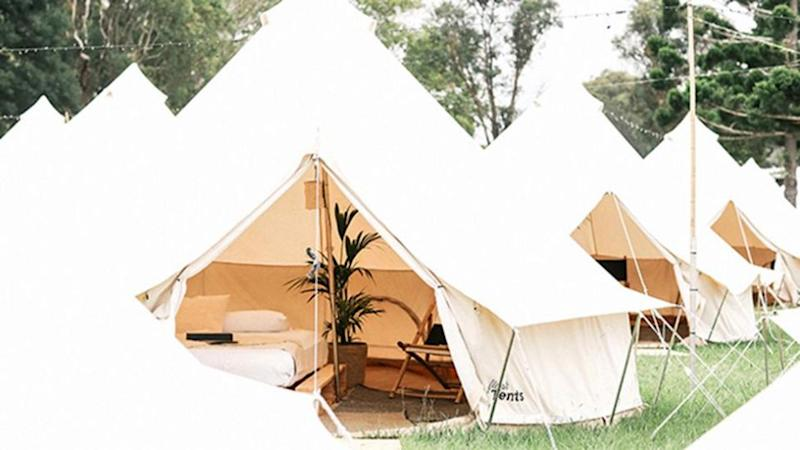 Flash Camp is luxury camping accommodation done a little bit fancy... Source: Elise Hassey