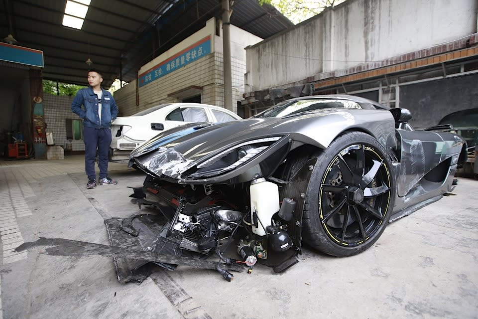 <p>The driver, known only as Mr. Liu, was not injured.</p>