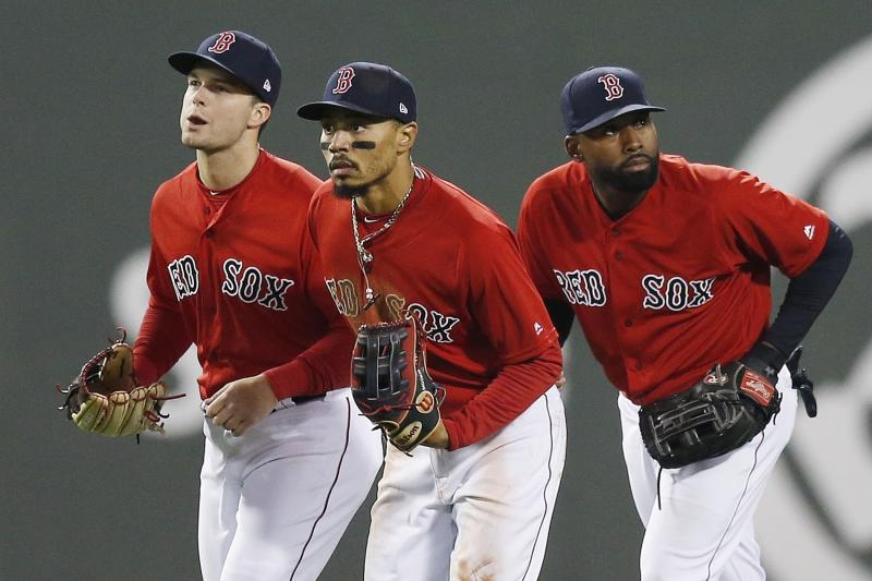With Betts gone, Red Sox fill holes in OF and at leadoff