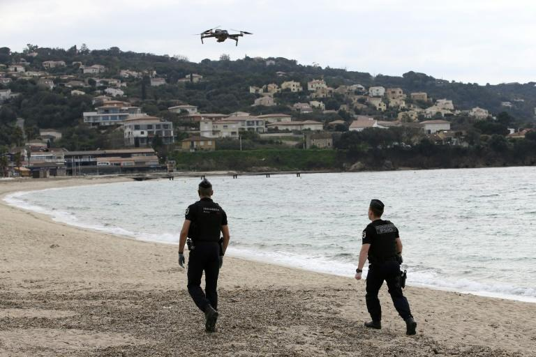 French gendarmes have already started using drones to patrol open spaces such as beaches