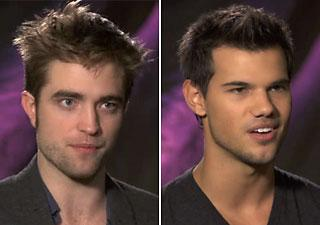 Robert Pattinson and Taylor Lautner talk to Yahoo! Movies about Team Edward and Team Jacob