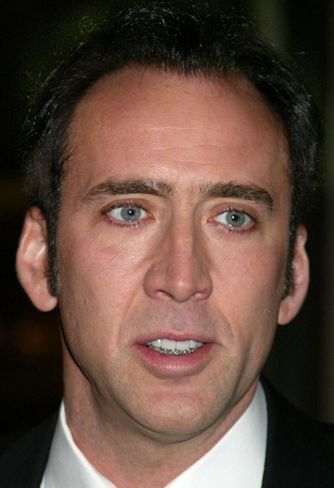 For several years Nicolas Cage has been working himself out of financial debt, having spent exorbitant amounts of money on more than two dozen houses (including two castles), two Bahamian islands, a fleet of Rolls Royces, dinosaur skulls – and other celebrity essentials. However, a more reasonable investment was made in his teeth. In 2003, when he was 39, the movie star fixed up his choppers by getting braces on his bottom row.
