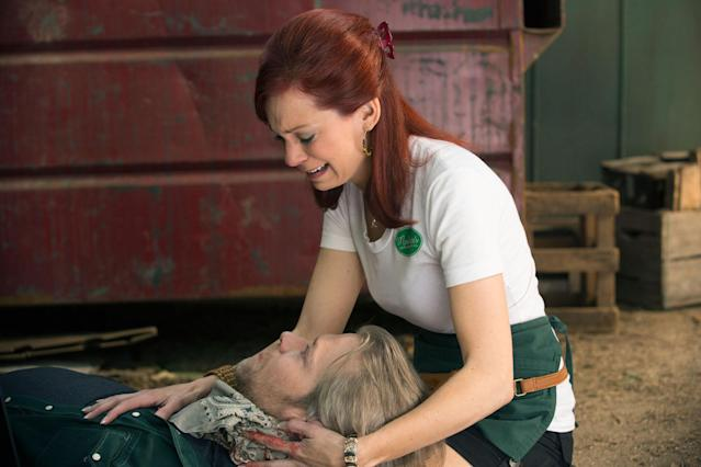 "Todd Lowe and Carrie Preston in the ""True Blood"" Season 6 episode, ""Don't You Feel Me."""