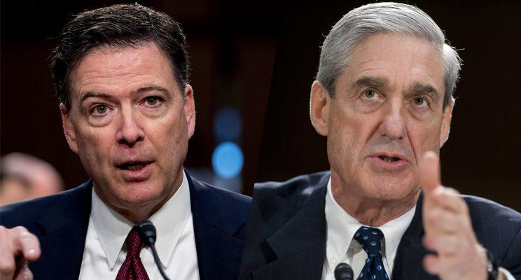 Image result for Mueller and Comey