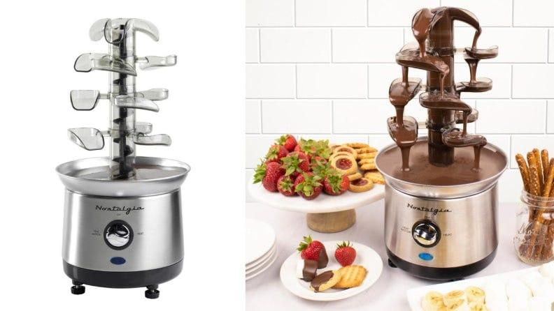No fondue party is complete without this cascading tower.