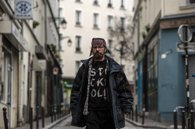 Despite his nearly 20,000 Twitter followers, Christian Page says he has no interest in becoming a spokesman for the homeless (AFP Photo/CHRISTOPHE ARCHAMBAULT )