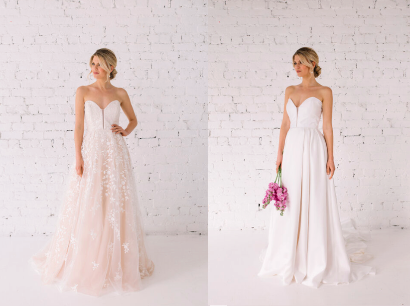 The designs feature a lacey detailed design on one side and a more simple design on the other [Photo: Trish Peng]