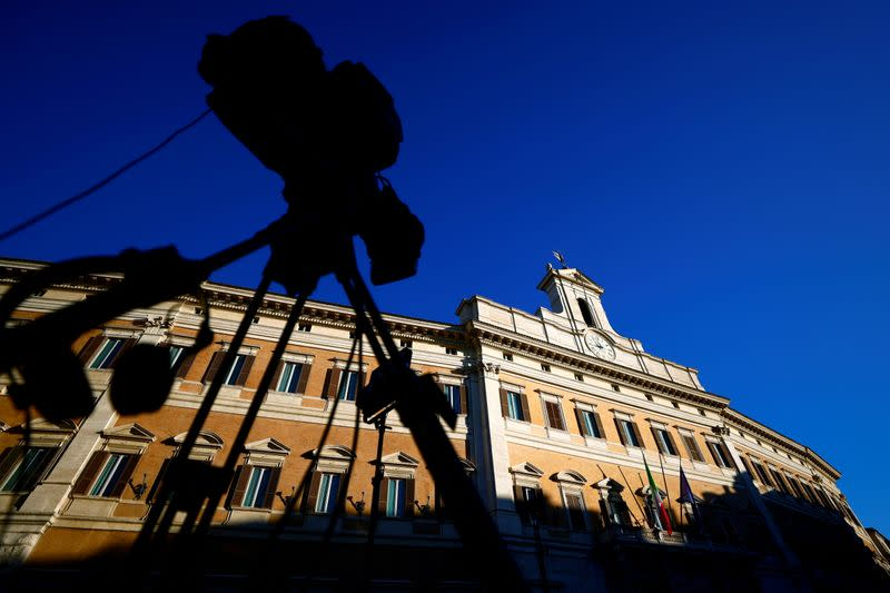 FILE PHOTO: Italian PM Conte faces a confidence vote in lower house of parliament, in Rome