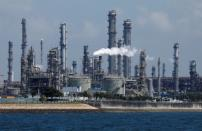 FILE PHOTO: A general view of Shell's Pulau Bukom petrochemical complex in Singapore