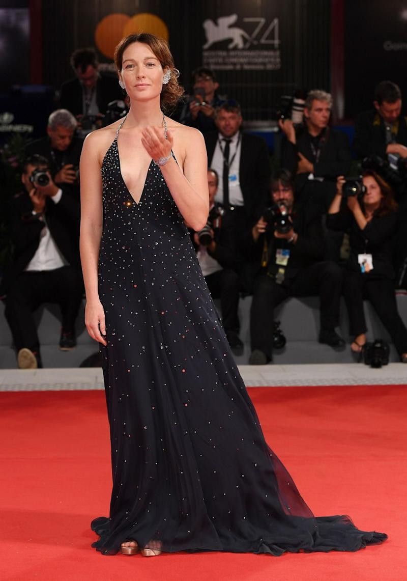 Cristiana suffered a nip slip in front of the pack of paparrazzi, as the daringly low neckline of her floor-length gown gave way to a generous view of her assets. Source: Getty