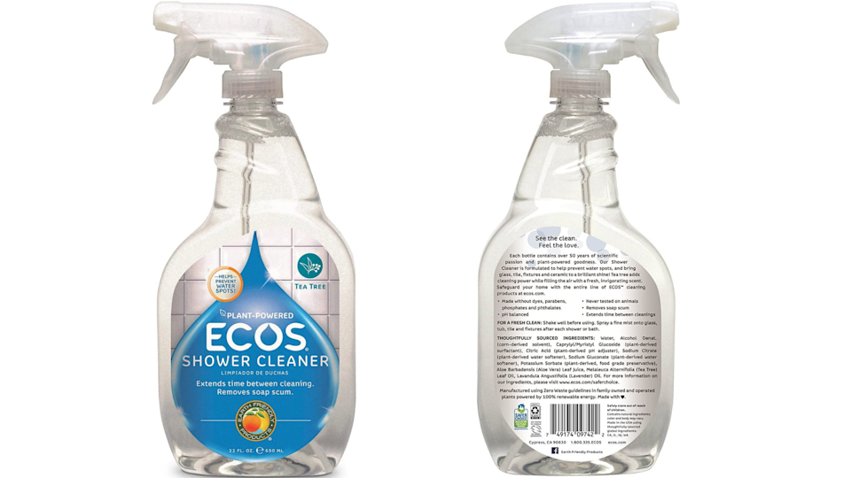 According to the bottle, this genius product was manufactured in a plant that's powered by 100% renewable energy.