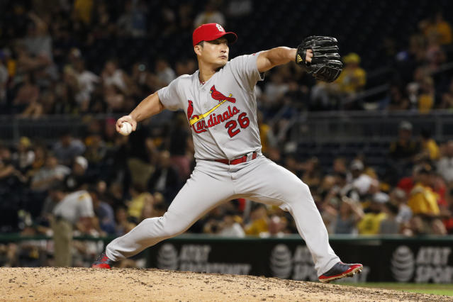 "The ""Final Boss,"" Seung-Hwan Oh, is a good bounce-back candidate in 2018. (AP)"