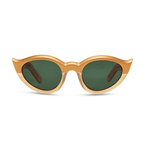 Retropeepers have reproduced Kahlo's iconic gold cat-eye sunglasses - Credit: ilya Krylov Photography