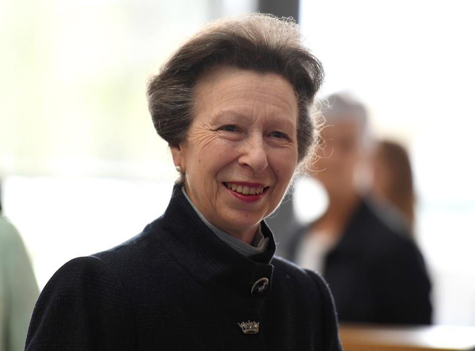 TAUNTON, ENGLAND - APRIL 25:  Princess Anne, Princess Royal officially opens the UK Hydrographic Office headquarters on April 25, 2019 in Taunton, England. As the UKHO enters its next chapter and continues to be an important, data-led geospatial organisation for the UK, the new headquarters will provide a creative working environment for its 850 staff. The state-of-the-art and environmentally friendly building replaces the existing buildings on the site in Admiralty Way, Taunton. (Photo by Finnbarr Webster/Getty Images)