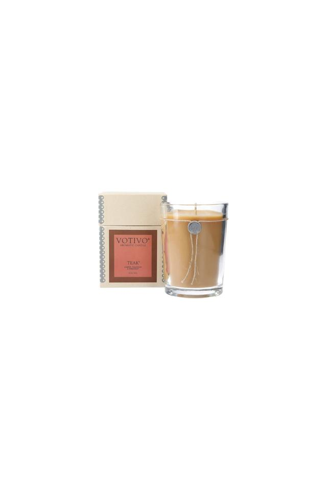 """<p><em>$50, Teak Candle, Votivo via Amazon</em><br><a class=""""body-btn-link"""" href=""""https://www.amazon.com/dp/B07JZCZZP8/ref=twister_B07K8Z5532?_encoding=UTF8&psc=1&tag=syn-yahoo-20&ascsubtag=%5Bartid%7C10052.g.2683%5Bsrc%7Cyahoo-us"""" target=""""_blank"""">Buy Now</a></p><p>If you love a good walk through the woods, you won't get enough of Votivo's Teak candle. It has a burn time of up to 110 hours and its woodsy aroma of teakwood, juniper, and amber is ideal for a fall home refresh. </p>"""