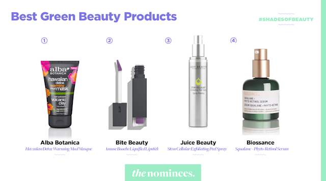 <p>Alba Botanics, Bite Beauty, Juice Beauty, and Biossance. (Art by Quinn Lemmers for Yahoo Lifestyle) </p>