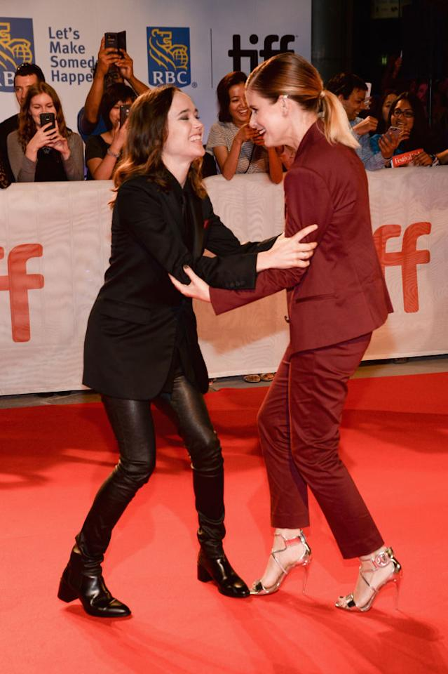"""<p>According to Deadline, """"My Days Of Mercy"""" stars Page as the daughter of a man on death row who falls in love with a woman (Mara) on the opposing side of her family's political cause. <em>(TIFF 2017 Day 9, Sept. 15, '17. Photo: Splash News)</em> </p>"""