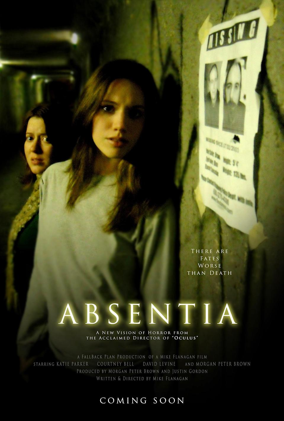 """<p>This film revolves around two sisters who discover a secret tunnel linked to over 100 disappearances in the area, including that of one sister's husband. It's a terrifying missing-person story that ties in supernatural and true crime elements. Plus, critics were obsessed with it - one called it a <a href=""""https://variety.com/2011/film/reviews/absentia-1117945387/"""" class=""""link rapid-noclick-resp"""" rel=""""nofollow noopener"""" target=""""_blank"""" data-ylk=""""slk:&quot;very creepy, non-formulaic&quot; film."""">""""very creepy, non-formulaic"""" film.</a></p> <p><a href=""""https://www.amazon.com/gp/video/detail/amzn1.dv.gti.a8a9f751-0b0f-82e8-304d-ecdfa4052d09?autoplay=1&amp;ref_=atv_cf_strg_wb"""" class=""""link rapid-noclick-resp"""" rel=""""nofollow noopener"""" target=""""_blank"""" data-ylk=""""slk:Watch Absentia on Amazon Prime"""">Watch <strong>Absentia</strong> on Amazon Prime</a>.</p>"""