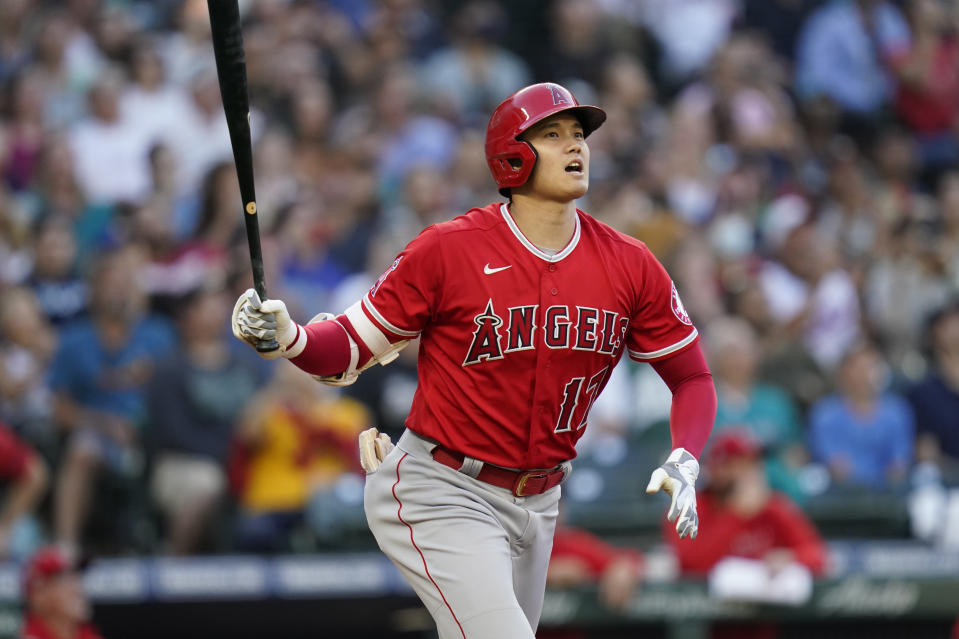 Los Angeles Angels' Shohei Ohtani will be the headliner at the MLB All-Star Game. (AP Photo/Elaine Thompson)