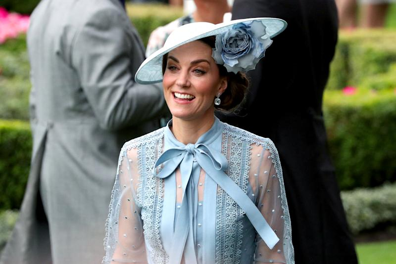 The Duchess of Cambridge attending day one of Royal Ascot at Ascot Racecourse. (Photo by Jonathan Brady/PA Images via Getty Images)