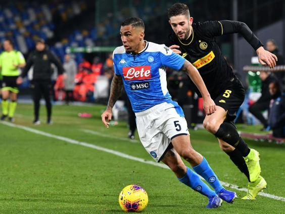 Everton are reportedly interested in Napoli's Allan (AFP via Getty Images)