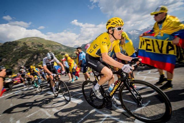 Team Sky's Geraint Thomas in action during stage twelve of the 2018 Tour de France.