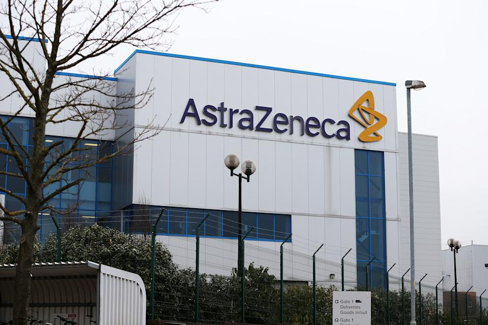 General view of the entrance to AstraZeneca's in Macclesfield after the pharmaceuticals giant is to cut 700 jobs in the UK over the next three years and relocate up to 300 other posts abroad under plans announced today. The firm said it will also invest £330 million in a new research and development centre and global headquarters in Cambridge.