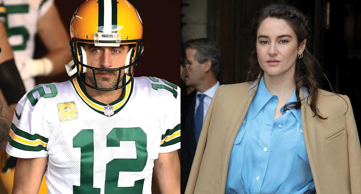 Shailene Woodley opens up about her and Aaron Rodgers's relationship.