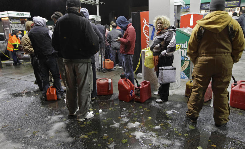Gas rationing begins in NY as power outages abate