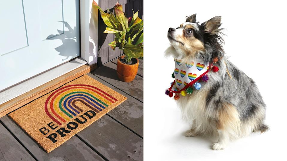 JOANN's Pride collection features colorful fabrics, accessories, and more.