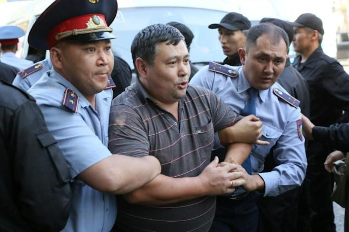 The interior ministry said 57 people had been detained (AFP Photo/Ruslan PRYANIKOV)