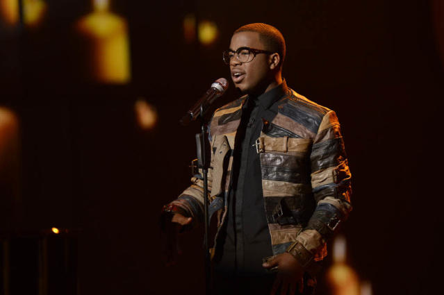 "Burnell Taylor performs The Beatles' ""Let It Be"" on the Wednesday, March 20 episode of ""American Idol."""