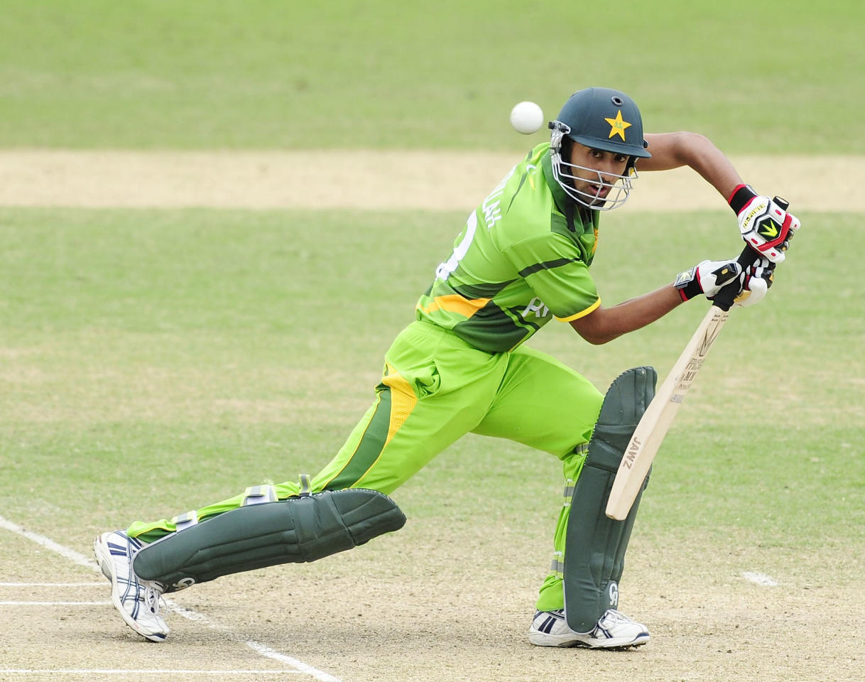 TOWNSVILLE, AUSTRALIA - AUGUST 20:  Azizullah of Pakistan bats during the ICC U19 Cricket World Cup 2012 Quarter Final match between India and Pakistan at Tony Ireland Stadium on August 20, 2012 in Townsville, Australia.  (Photo by Ian Hitchcock-ICC/Getty Images)