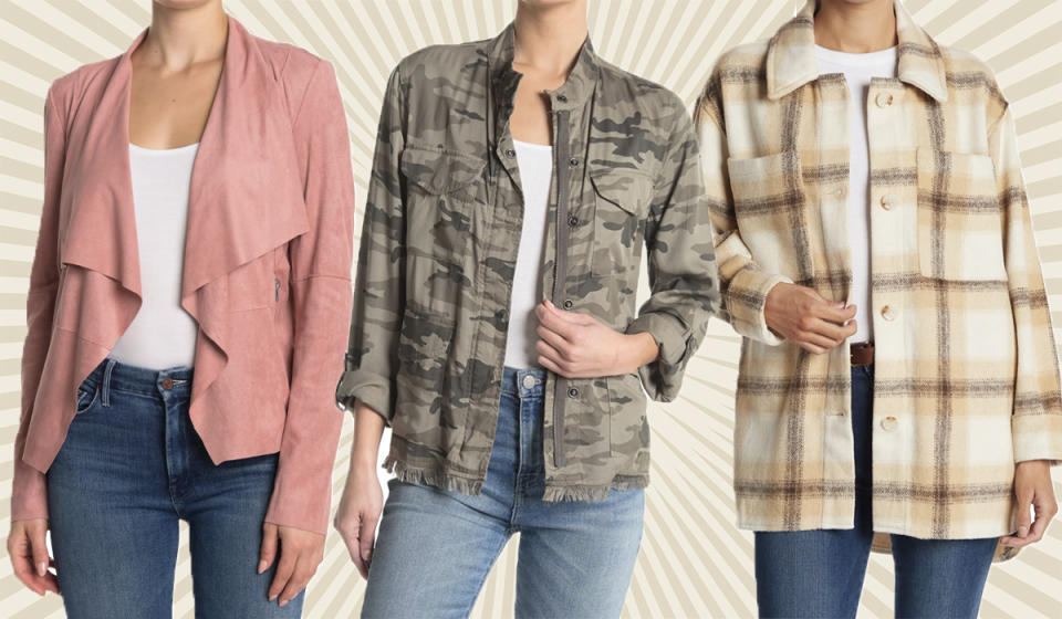 Save on faux suede, cute camo, and cozy flannel. Yay! It's jacket (and