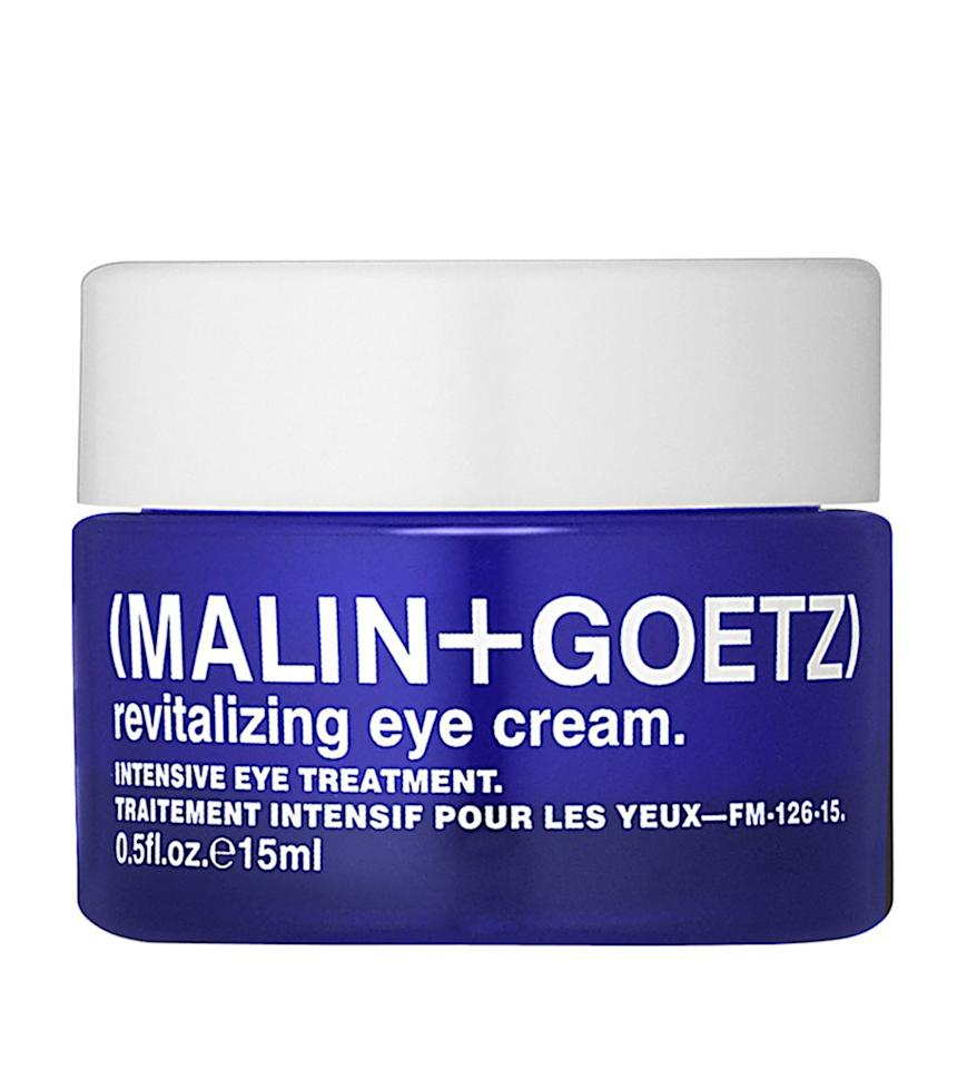 """<p><strong>The Problem:</strong> <em>Bags under your eyes make you look tired and sullen, like a basset hound or Steve Bannon.</em></p><p><strong>The Solution:</strong> <em><b>Malin+Goetz Revitalizing Eye Cream</b></em></p><p>Cream can often feel heavy and oily, but this one's somehow light and luxurious—like Cool Whip for your face. Though for long-term improvement you should use it on the daily, I looked less hangdog after trying it exactly once.</p><p>$92 for 0.5 oz., <a rel=""""nofollow"""" href=""""http://www.barneys.com/product/malin-2bgoetz-revitalizing-eye-cream-505057035.html?mbid=synd_yahoobeauty&skimproduct=fd2a4edd24d1169d0341a473bbb124c6"""">buy it now at barneys.com</a></p>"""