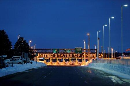The Lacolle Border crossing into the United States is seen from Lacolle, Quebec, Canada, February 13, 2017. REUTERS/Christinne Muschi